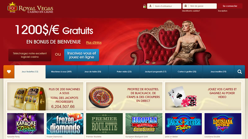Bonus Royal Vegas Casino sur iPhone et Android