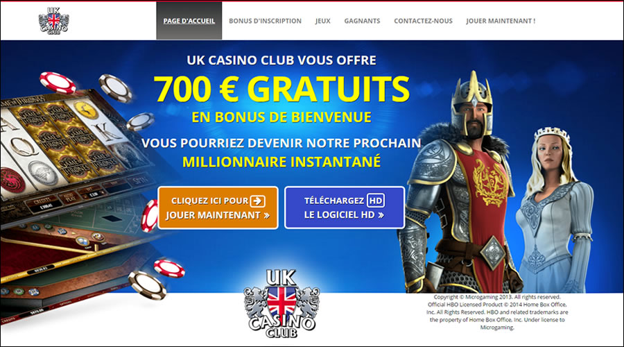 UK Casino Club en Français