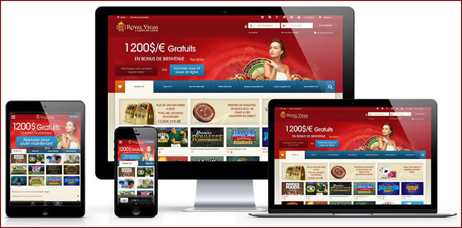 Royal Vegas Casino mobile sur iPhone et Android